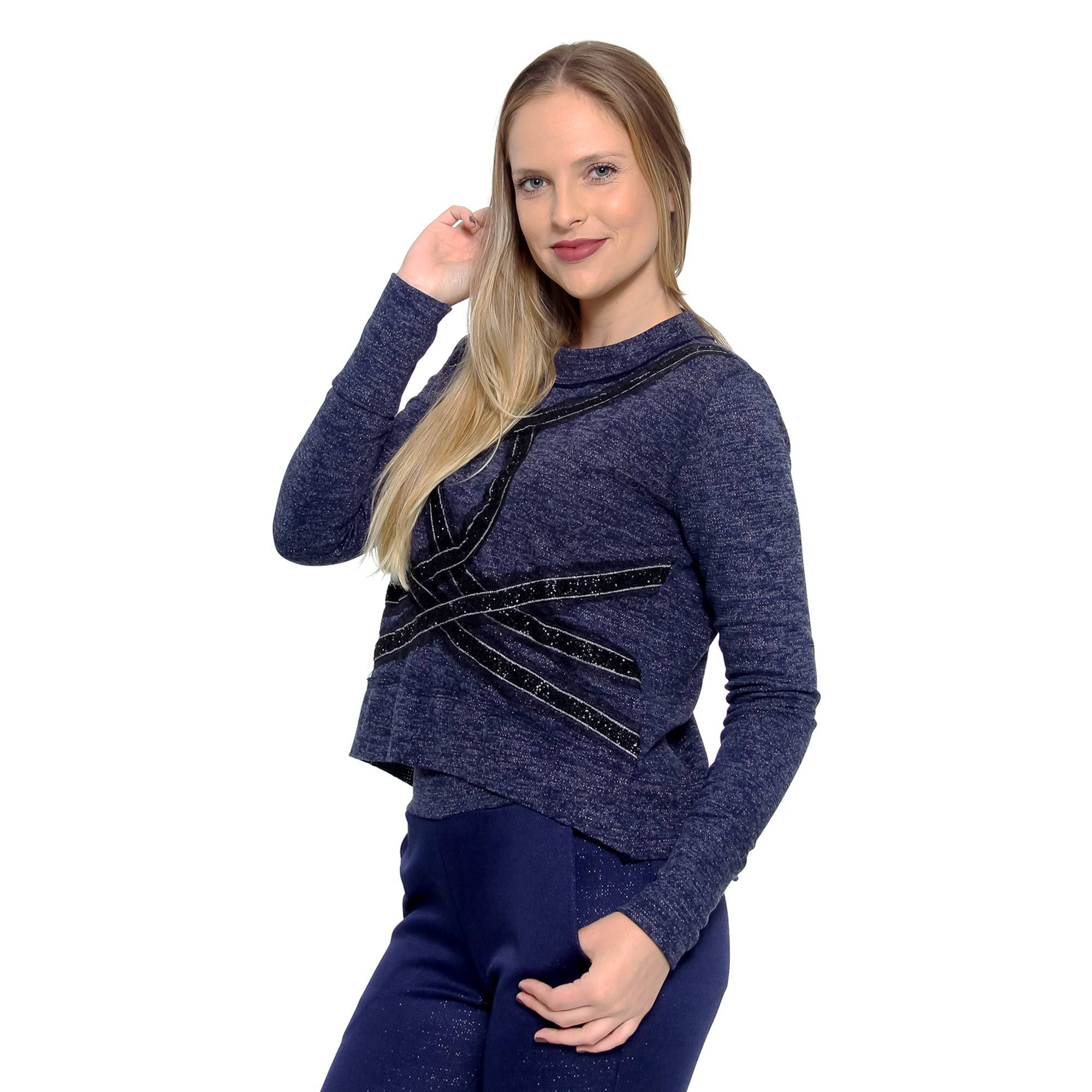 Blusa Recorte Lã (pr)