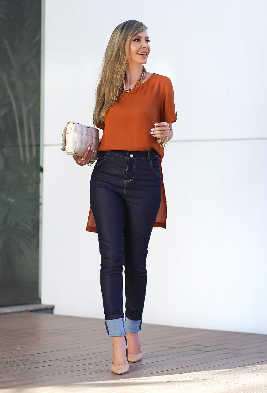 Calça Jeans Skinny Blue