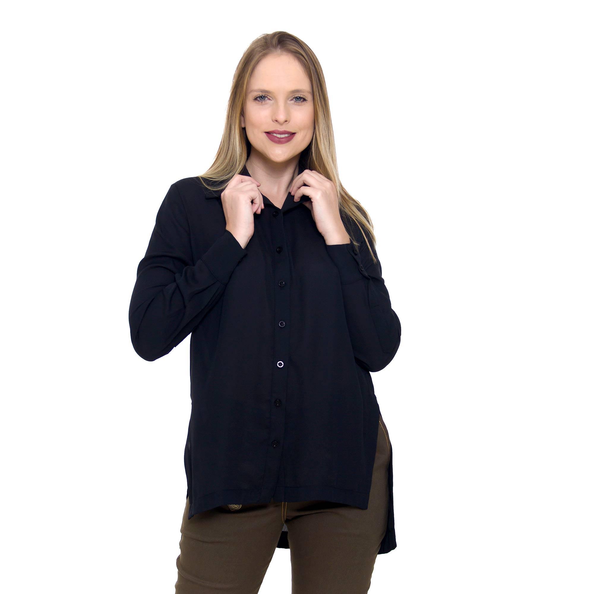 Camisa Crepe Longue