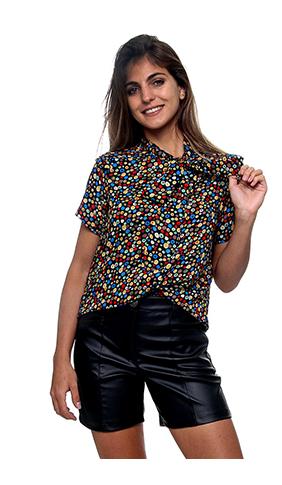 Camisa Flor Borrô (pr)