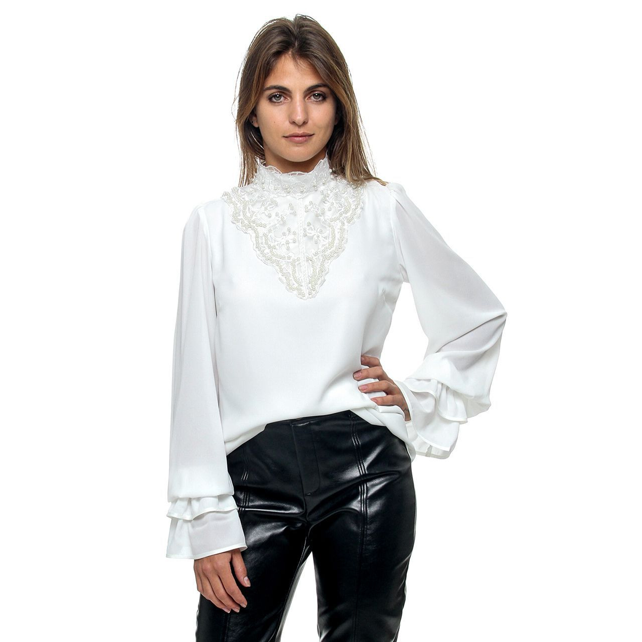 Camisa Gola Perola (pr)