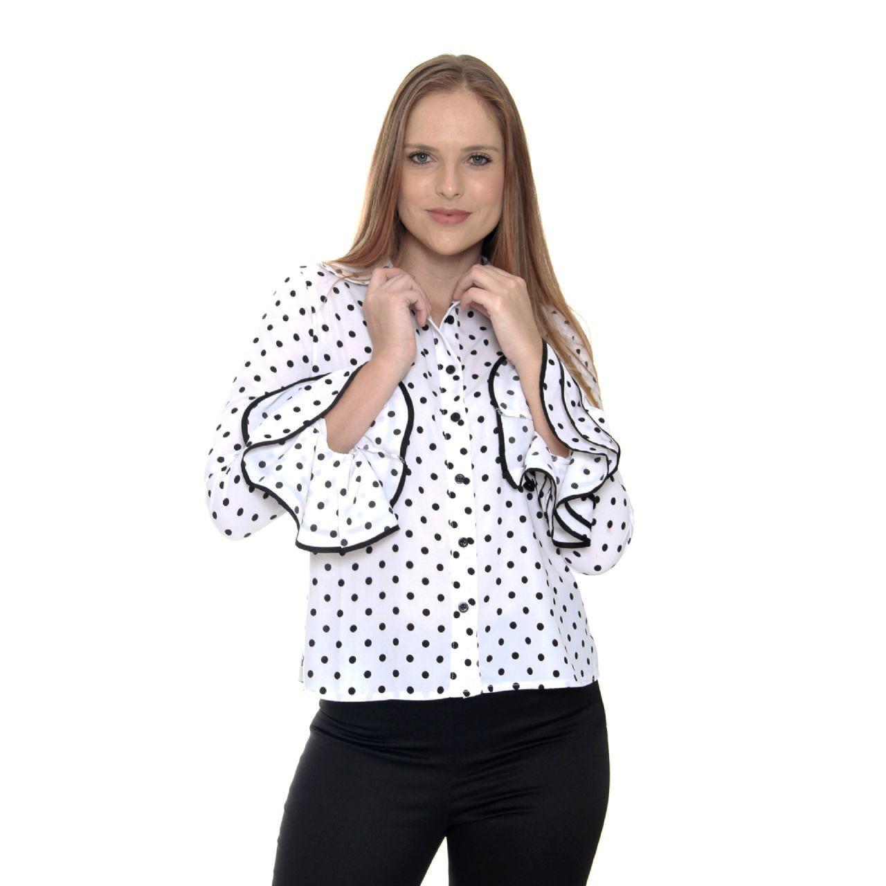 Camisa Poá Lady (pr)