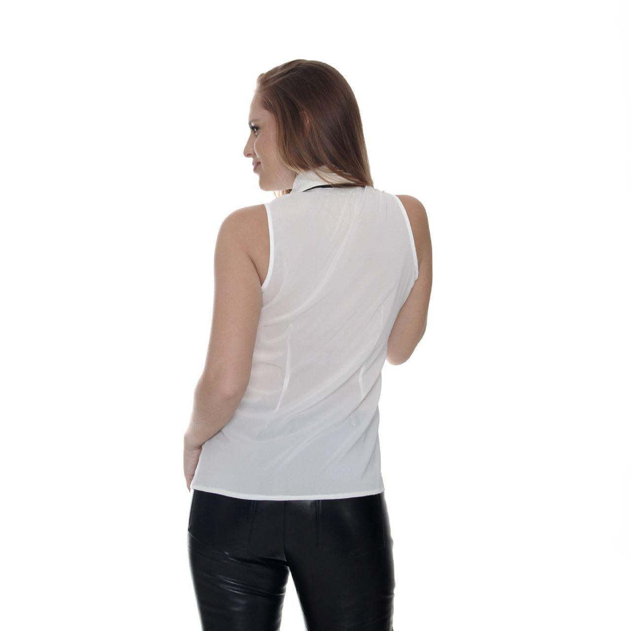 Camisa Sem Manga Com Laço