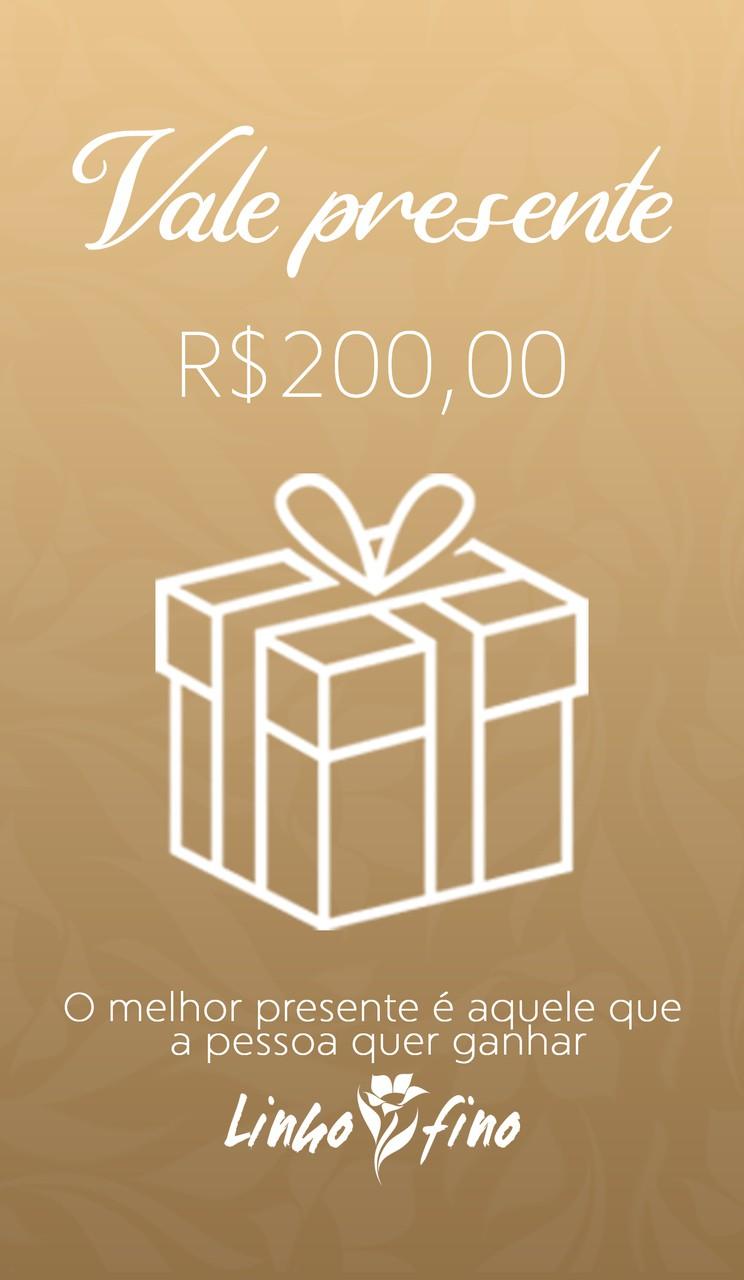 Vale Presente - R$200,00