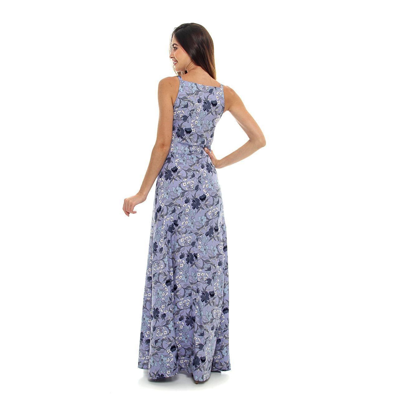 Vestido Flores Alça Dupla