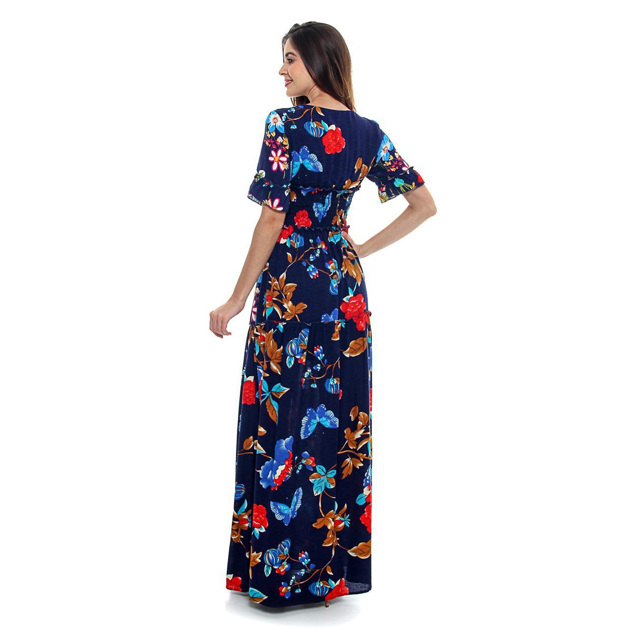 Vestido Longo Decote Quadrado (pr)