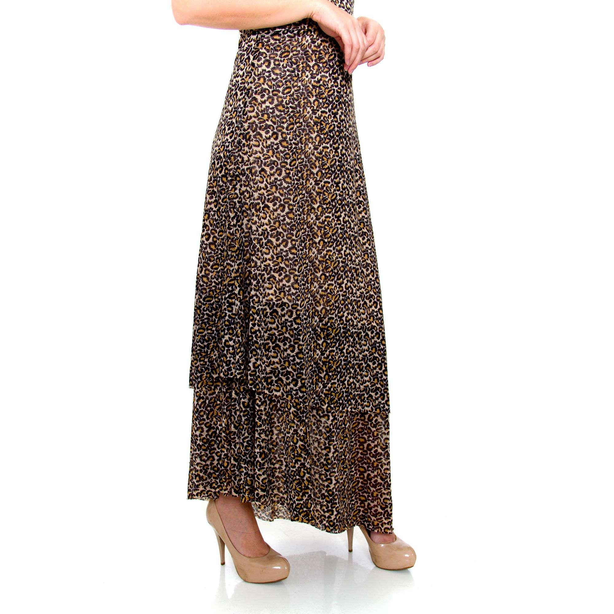 Vestido Longo Transversal Onça