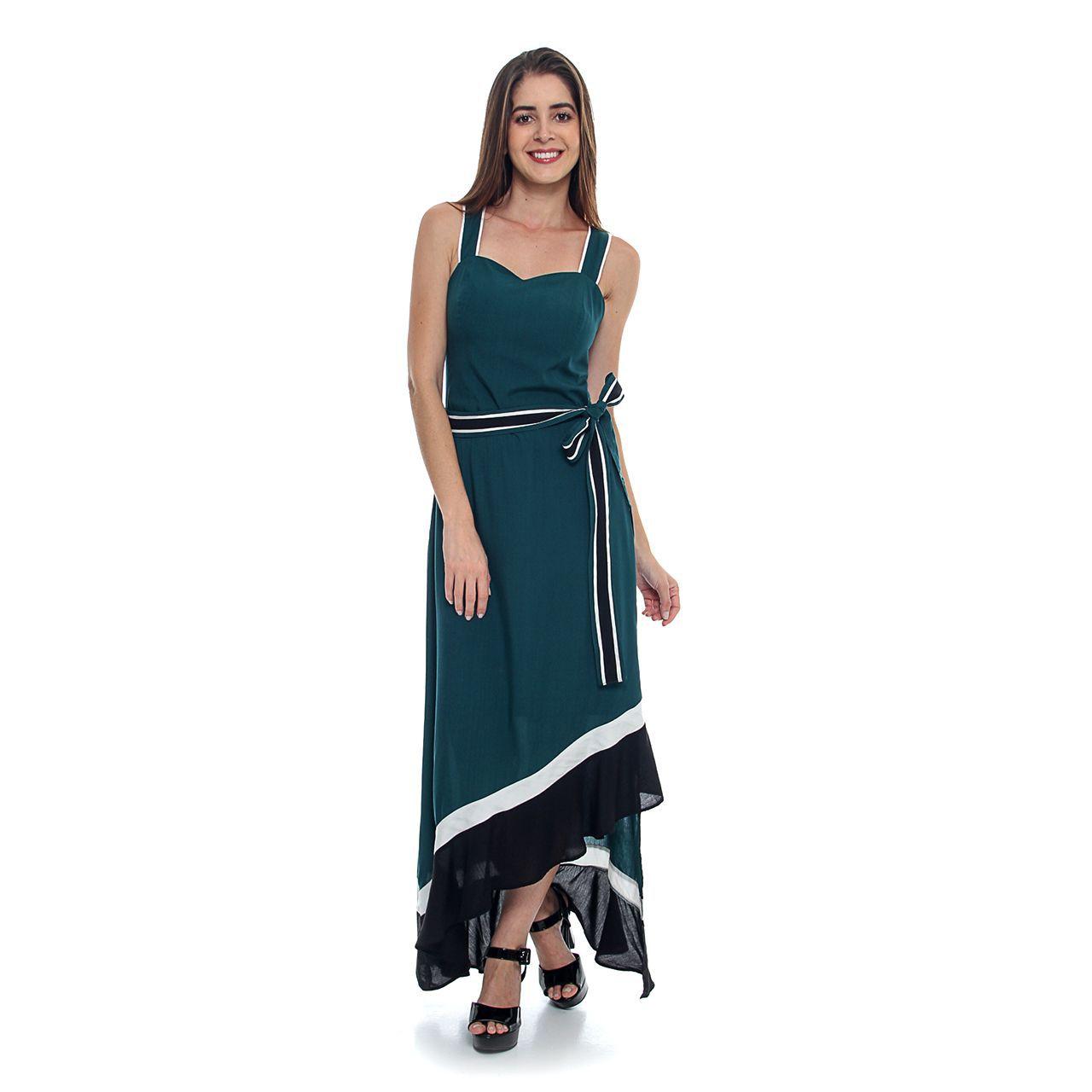 Vestido Midi Viscose Assimetrico (pr)