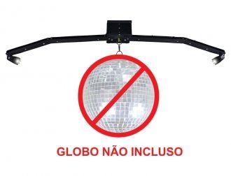 BASE PARA GLOBO ESPELHADO DELTRÔNICA COM MOTOR E CANHÃO DE LED