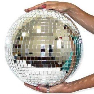 Globo Espelhado 30 Cm Nacional - Iluminação para Festas e Shows