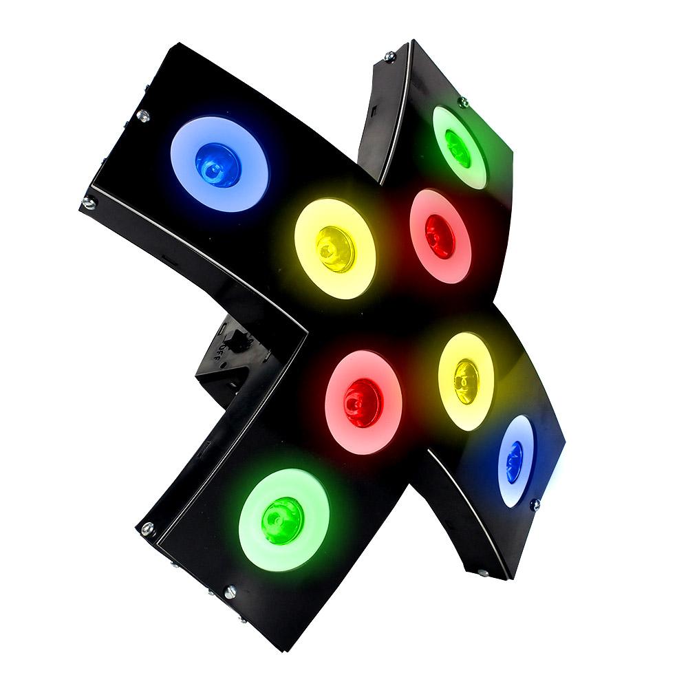 Jogo De Luz Xtreme Deltronica 8 Canhões Led Rítmicos
