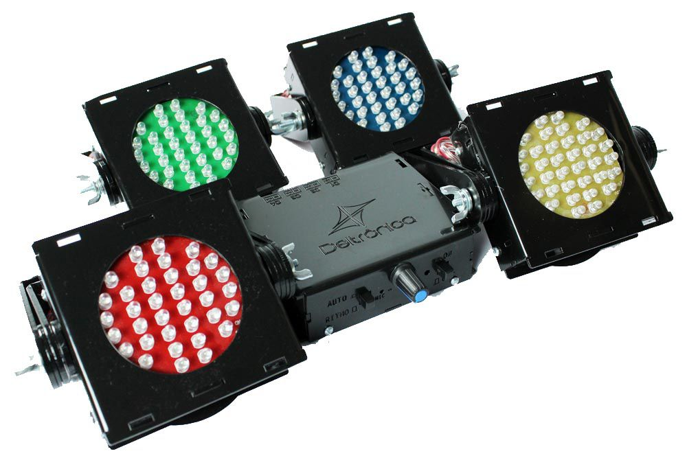 Kit Sequencial de Led Multiformas Deltrônica 4 Canhões RGBY