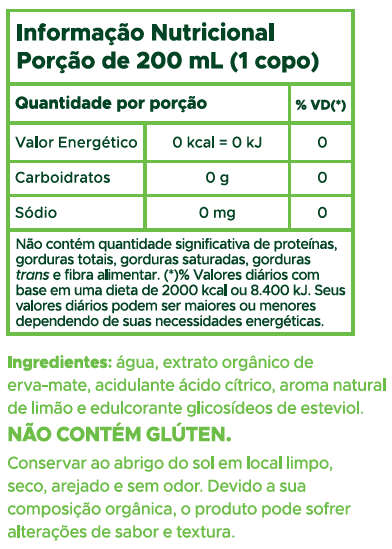 CHÁ-MATE LIMÃO S/ AÇÚCAR TEARAPY 1L