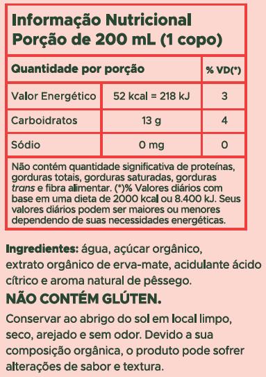 CHÁ-MATE PÊSSEGO TEARAPY 1L