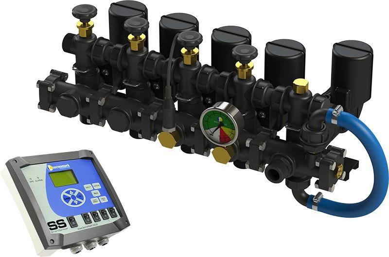 Comando elétrico com controlador eletrônico de pulverização