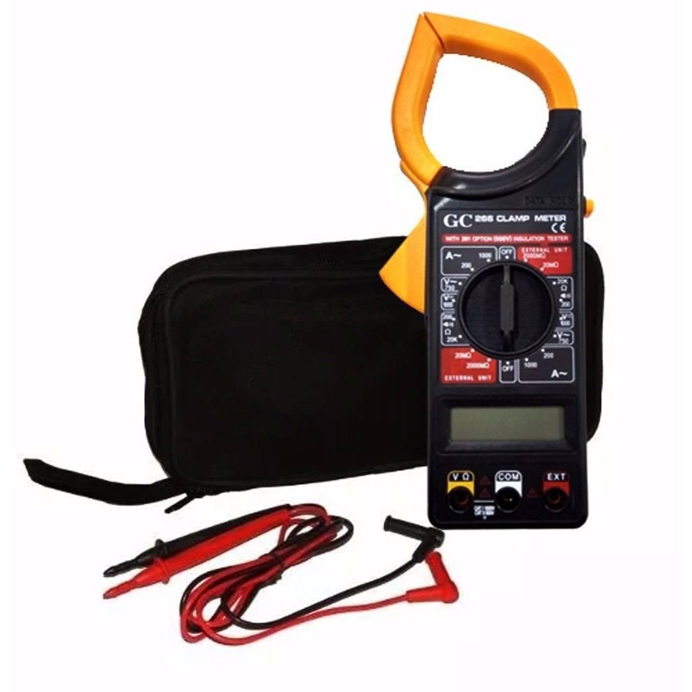 Alicate Amperímetro Multimetro Digital Profissional E Estojo