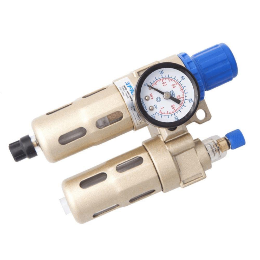 Filtro De Ar E Regulador De Pressão 1/4 Com Protetor Fluir