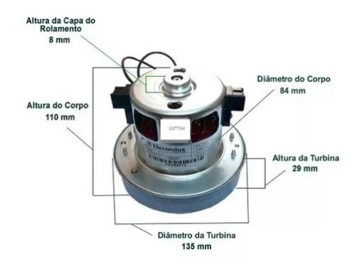 Motor Aspirador Max Trio 1400w 110v 64300631 / A18215001 Orig Electrolux