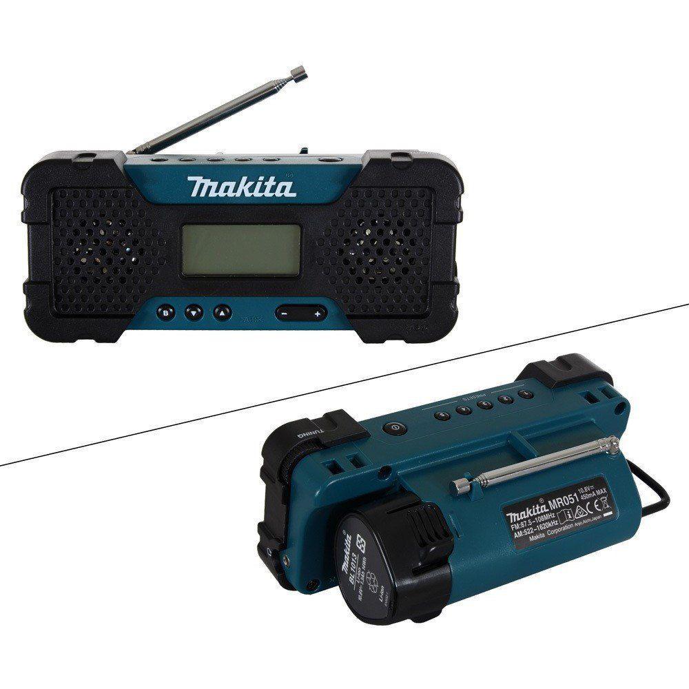 Rádio 10,8v Sem Bateria E Sem Carregador Mr051 Makita