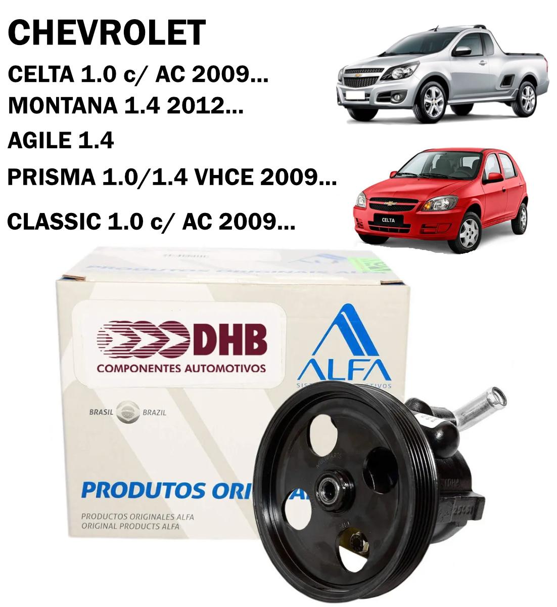 Bomba Direção Hidráulica DHB Celta 1.0 c/ AC 09..., Montana 2012..., Agile, Prisma 09..., Classic 1.0 09...
