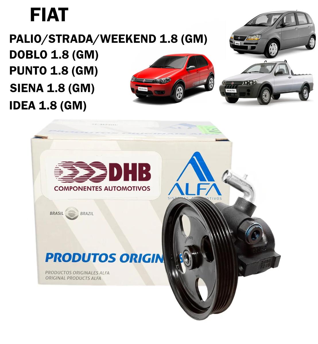 Bomba Direção Hidráulica DHB Palio, Siena, Strada, Idea, Doblo, Punto - Todos 1.8 (GM)