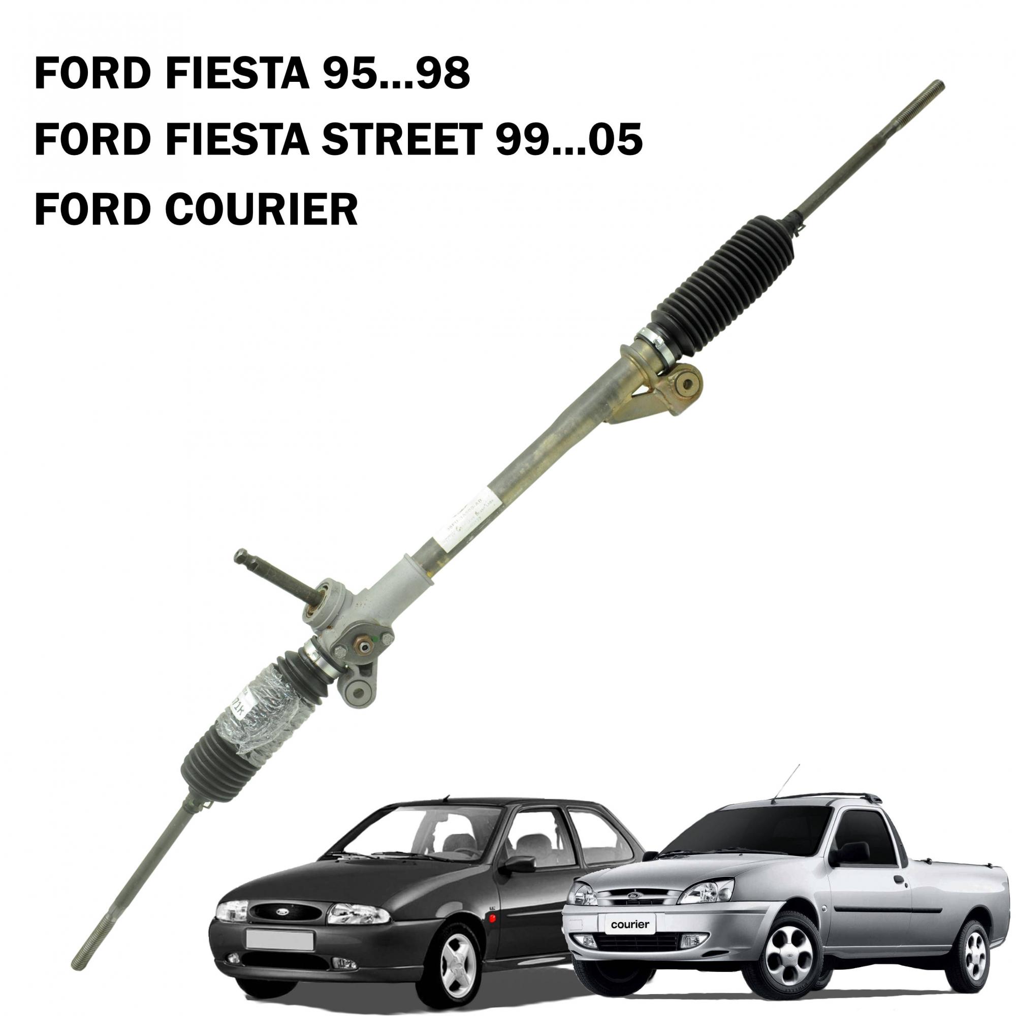 Caixa Direção Mecânica Ford Fiesta 95...98, Courier, Fiesta Street (Modelo Antigo) 99...05