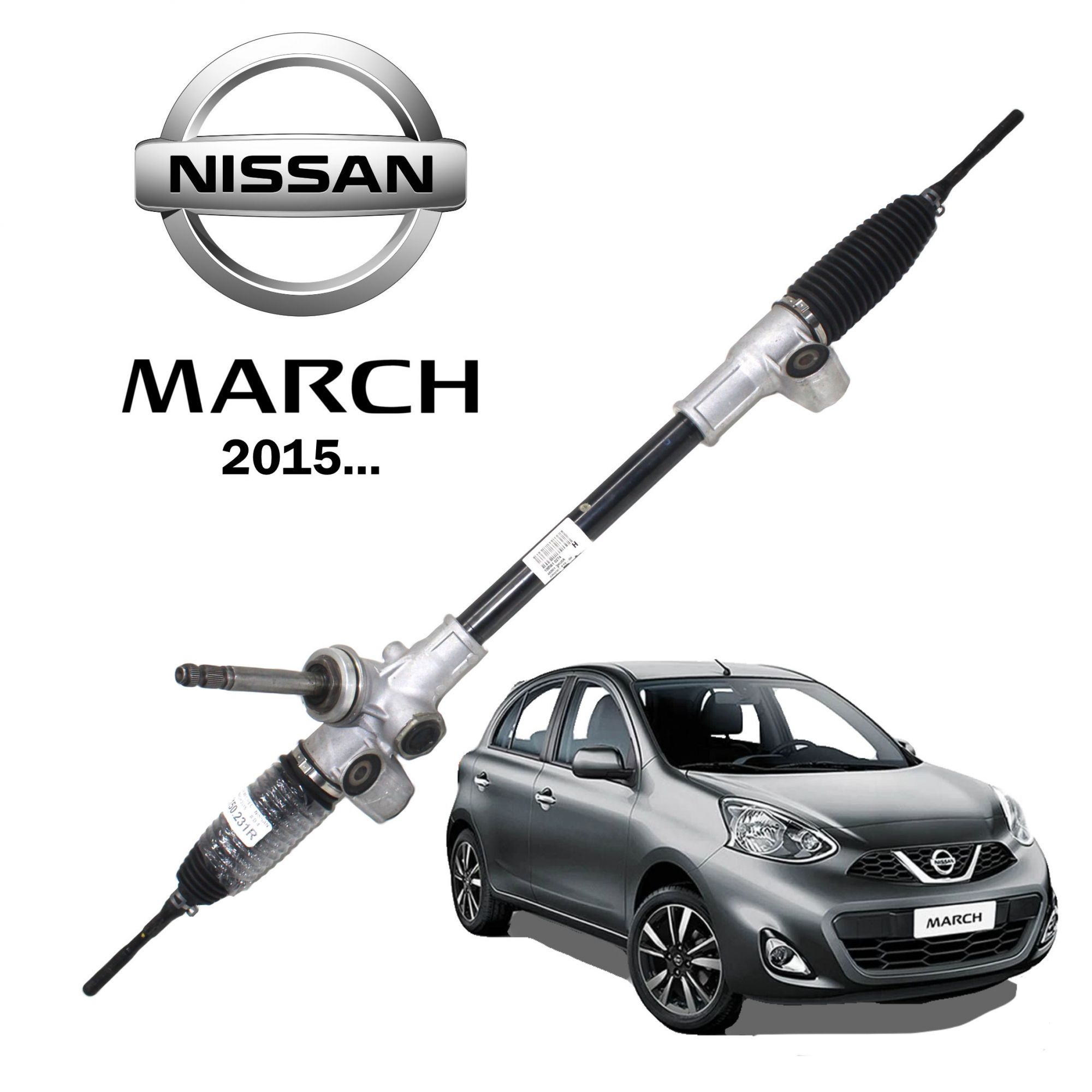 Caixa Direção Mecânica Nissan March 2015... 480013HU0A