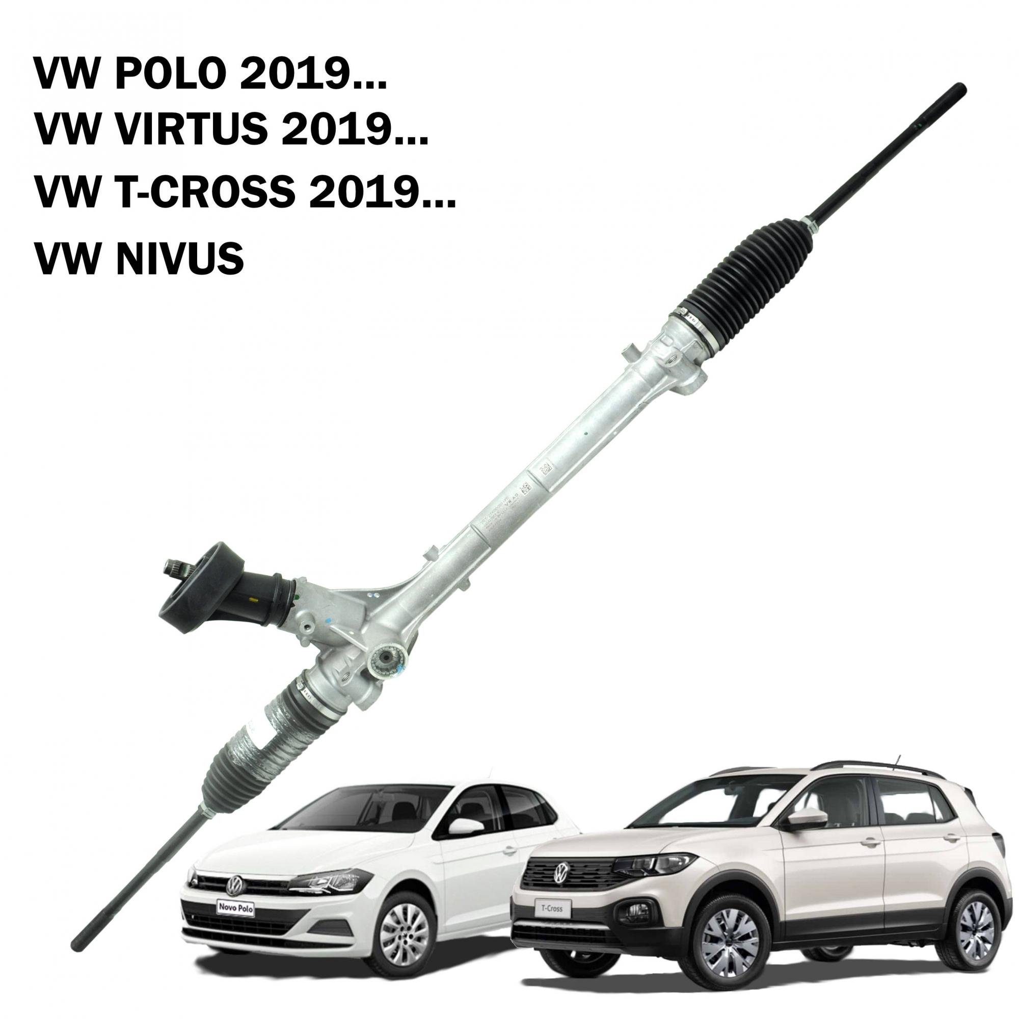 Caixa Direção Mecanica TRW Polo 2019..., Virtus 2019..., T-Cross, Nivus (Sistema Elétrico) 2QB423057C