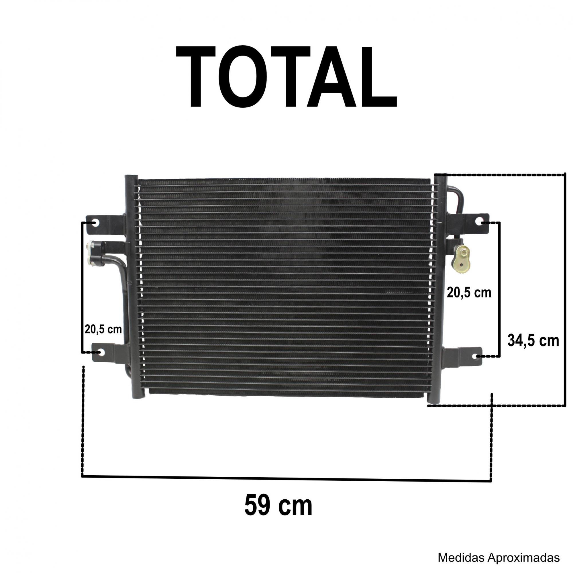 Condensador Ar Condicionado Palio, Siena 96...08, Idea 1.4 (COMPARAR FOTOS E MEDIDAS)