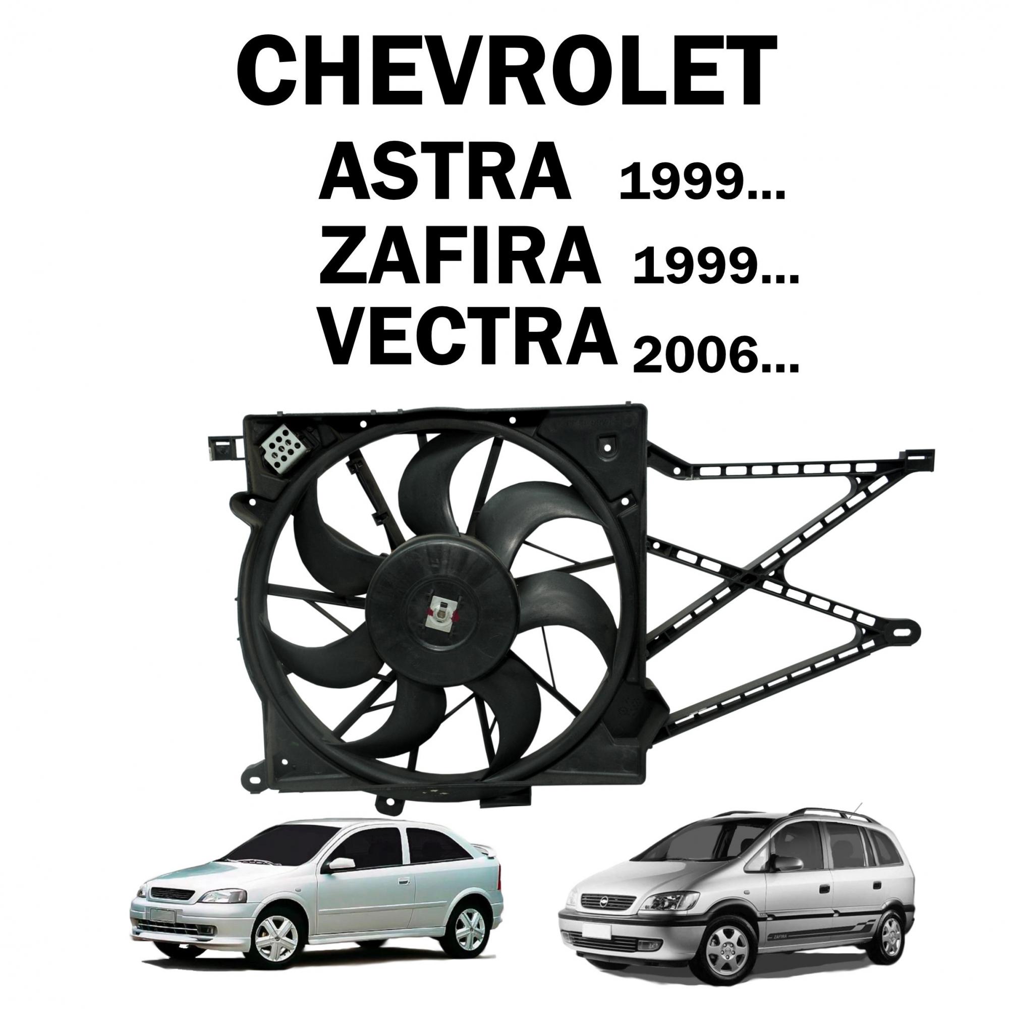 Eletroventilador Ventoinha Astra 99..., Zafira 99..., Vectra 2006... c/ AC Lado Radiador