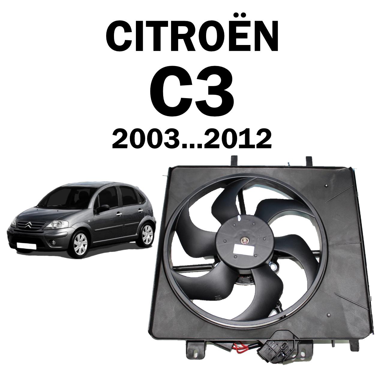 Eletroventilador Ventoinha Defletor Citroen C3 2003...2012 com Modulo