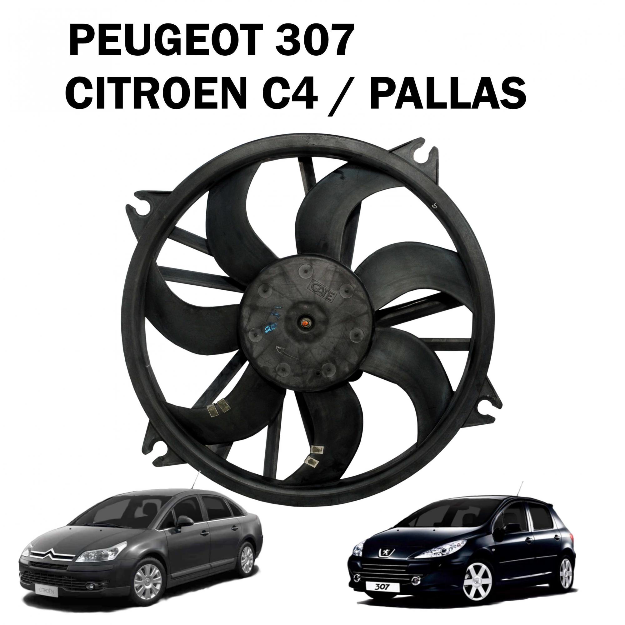 Eletroventilador Ventoinha Peugeot 307, Citroen C4, C4 Pallas