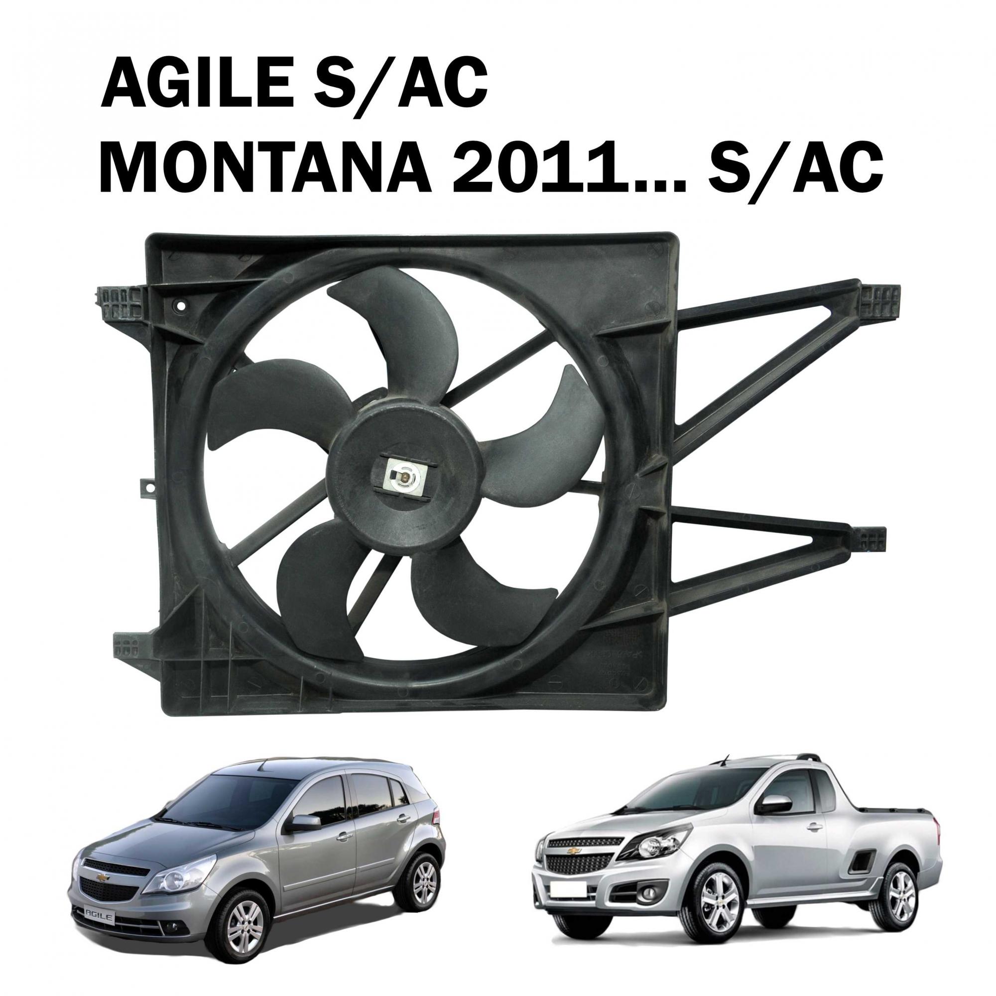 Eletroventilador Ventoinha Radiador BEHR Agile, Montana 11... S/ Ar Condicionado