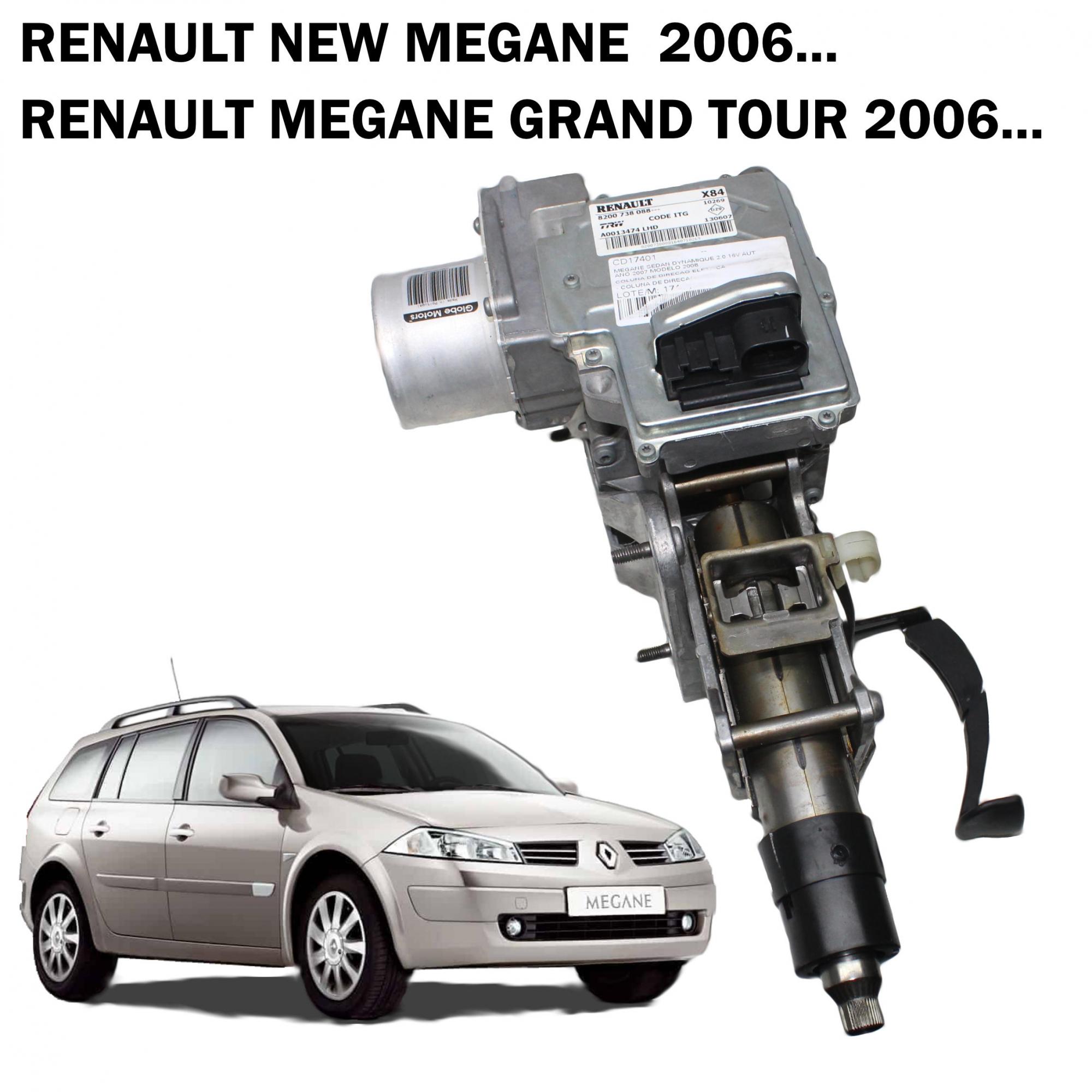 Motor Coluna Direção Elétrica TRW Renault Megane, Megane Grand Tour 06...