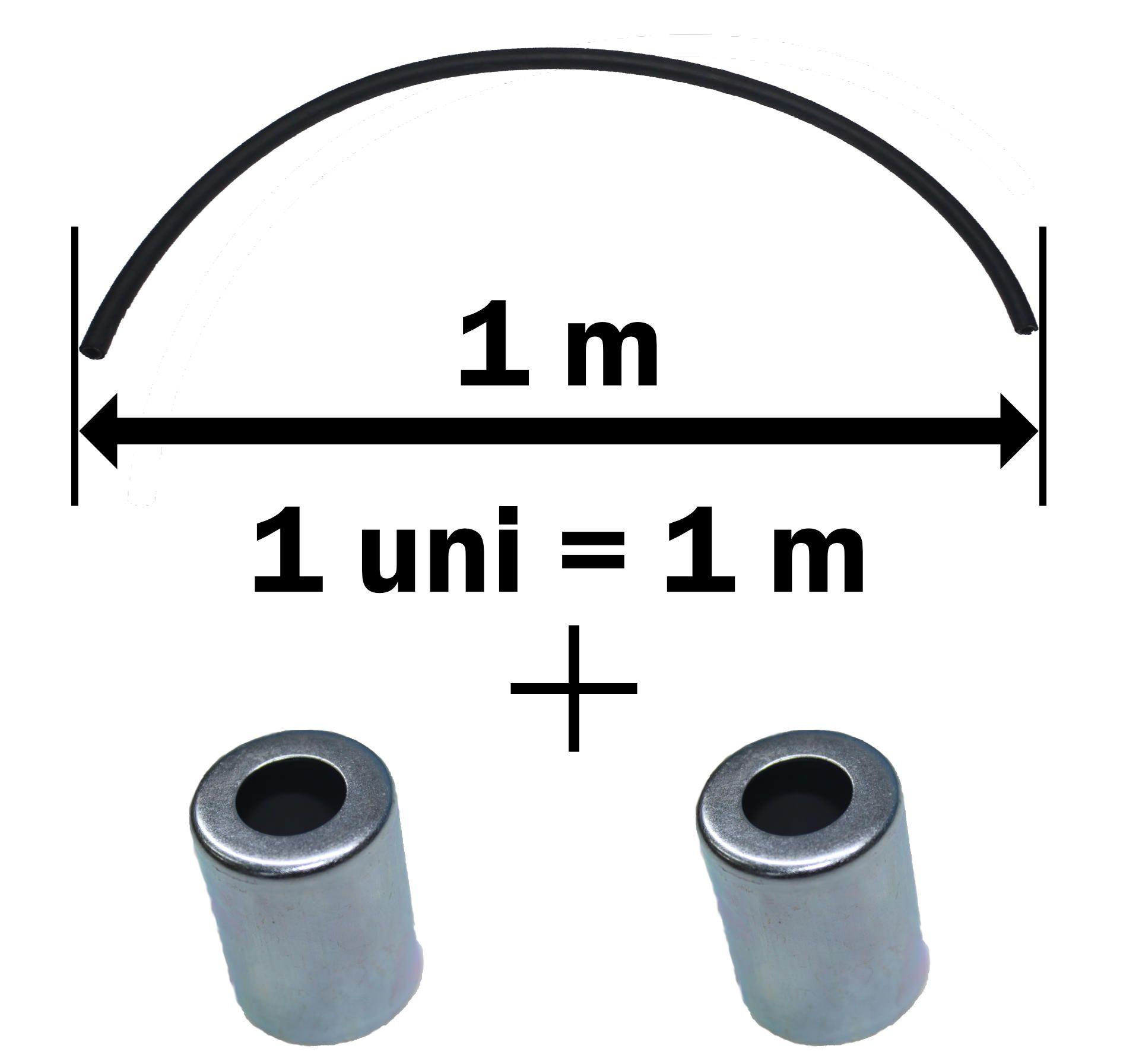 Par Copos e 1 m Mangueira Ar Condicionado Universal 12 mm