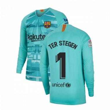 Camisa Barcelona Manga Longa 2020 Camisa Goleiro Azul