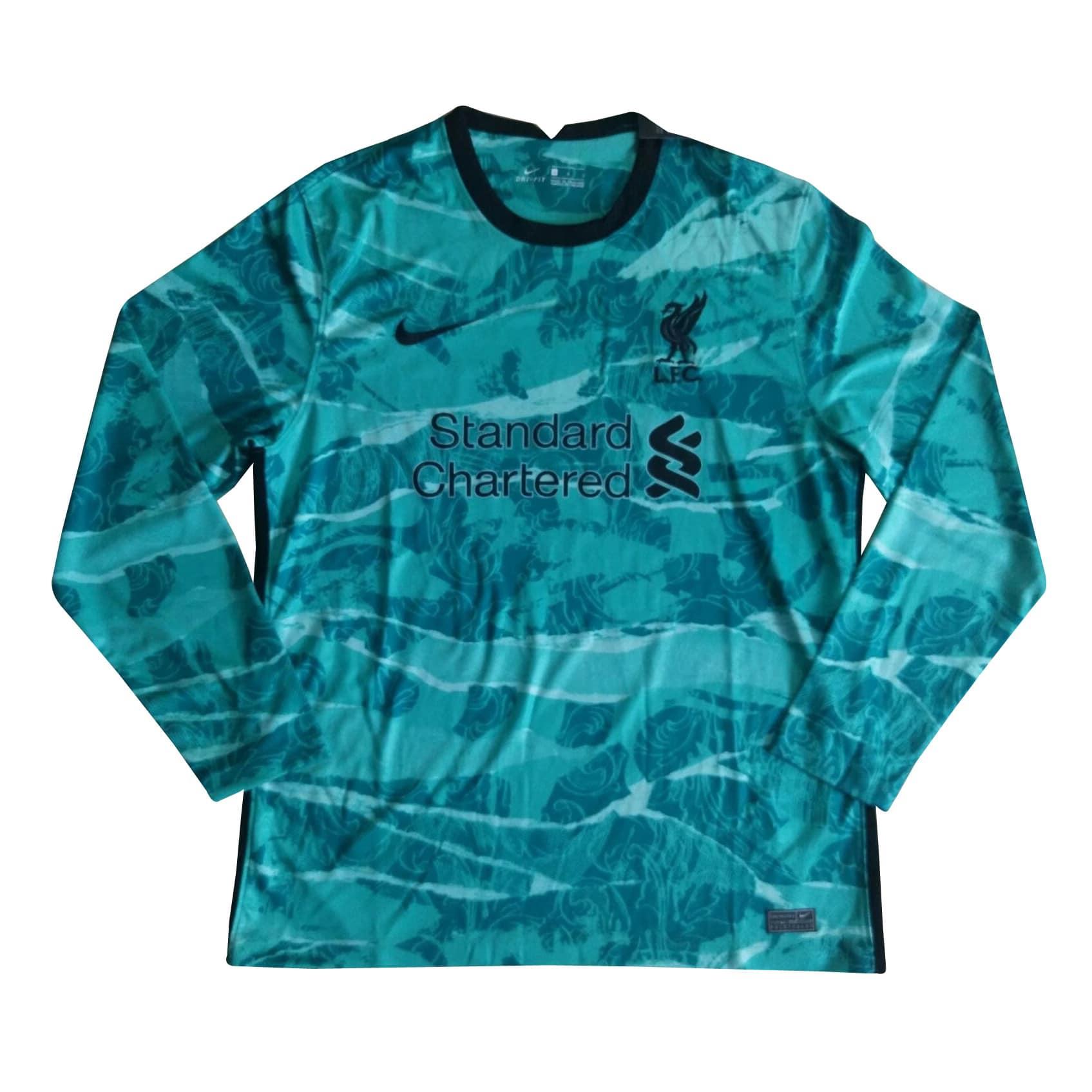 Camisa Manga Longa Liverpool 2021 Camisa Reserva