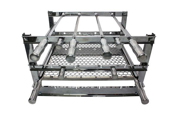 Grill Manual Inox 4 Espetos - 59 x 45