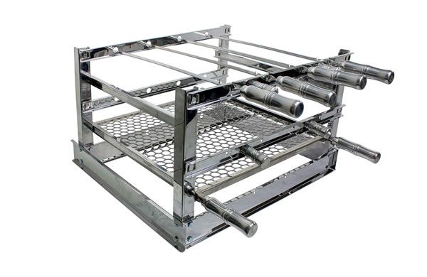Grill Manual Inox 5 Espetos - 70 x 54