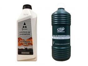 Aditivo De Radiador Tirreno Concentrado Orgânico Coolant Extended Life Laranja + Água Desmineralizada