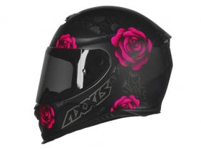 CAPACETE AXXIS EAGLE FLOWERS MATT BLACK/PINK