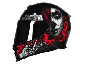 CAPACETE AXXIS EAGLE LADY CATRINA GLOSS BLACK/RED