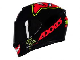 CAPACETE AXXIS EAGLE MG16 CELEBRITY EDITION BY MARIANNY GLOSS BLACK/RED