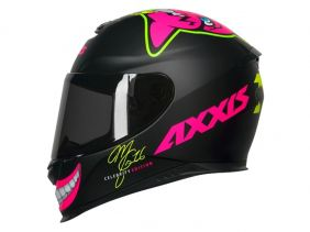 CAPACETE AXXIS EAGLE MG16 CELEBRITY EDITION BY MARIANNY MATT BLACK