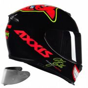 CAPACETE AXXIS EAGLE MG16 CELEBRITY EDITION MARIANNY GLOSS RED + VISEIRA SILVER
