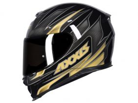 CAPACETE AXXIS EAGLE SPEED GLOSS BLACK/GOLD