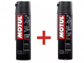 KIT 1 MOTUL C2 CHAIN LUB ROAD + MOTUL C3 CHAIN LUB OFF ROAD