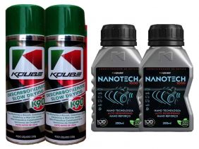 Kit Com 2 Descarbonizante K90 + 2 Nanotech 1000