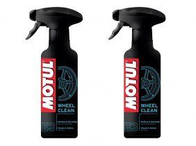 Kit C/ 2 Un. Motul E3 Wheel Clean Limpeza De Roda Moto 400ml