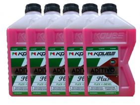 Kit C/ 5L Aditivo Koube Plus Flex Diesel Rosa Frete Grátis